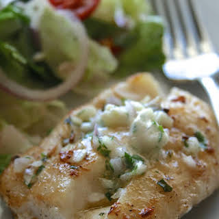 Roasted Cod with Herbed Garlic Butter.