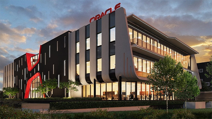 The new Oracle building in Woodmead, Johannesburg.