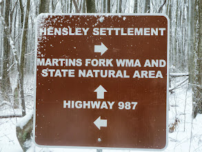 Photo: We hiked down to 987 to roadwalk into Harlan.