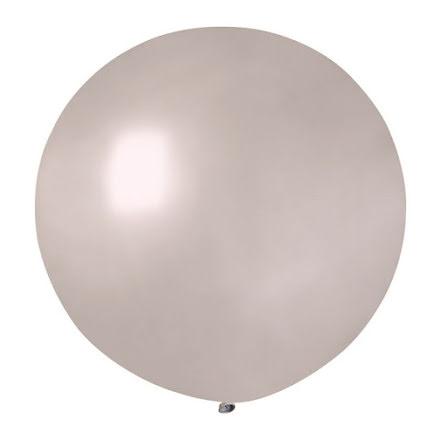 Ballong rund 70 cm, silver