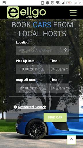 Eligo- Best Way to Rent Cars 1.0.0 screenshots 1