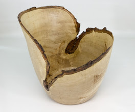 "Photo: Jim Allison 7 1/2"" x 7 1/2"" bark-edge bowl [maple]"