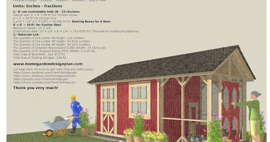 CB200 - Combo Chicken Coop Garden Shed Plans Construction_0718