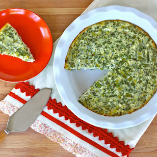 Crustless Quiche with Feta and Asparagus