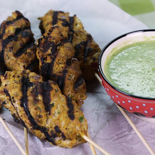 Harjeev's Turkey Kebabs with Green Chili Chutney.
