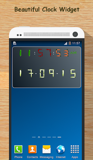 Veggie Fruits Clock - Widget