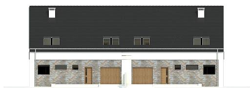 Bernikla z garażem 2-st. bliźniak A-BL1 - Elewacja przednia