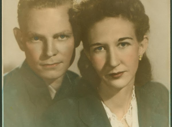 My Mom and Dad when they were young.  She was 21 and he...
