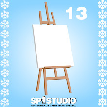 Photo: easel with canvas