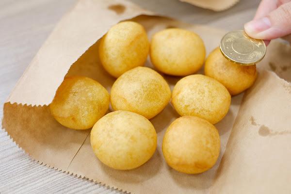 無名芝麻球和QQ蛋 ♥ 超大顆地瓜球,現作現賣熱,每粒都熱呼呼又彈牙,必嚐在地美食