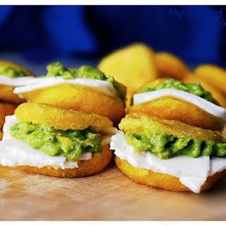 Arepas with Avocado & Cheese (Gluten Free).