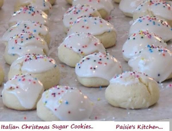 Italian Christmas Sugar Cookies Recipe