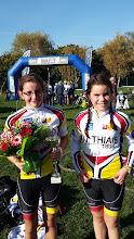 Photo: Emma K - 1 ère féminine cadet et sa 1 ère course au cyclo cross de Créteil le 31/10/2015