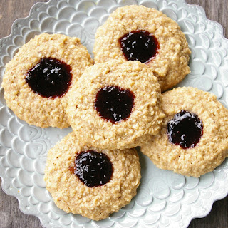 Maple Walnut Jam Cookies