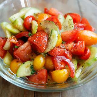Cucumber Tomato Salad.