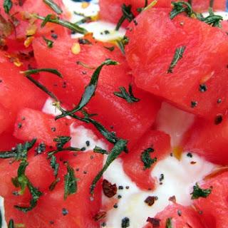 Watermelon, Rosemary and Yogurt Salad