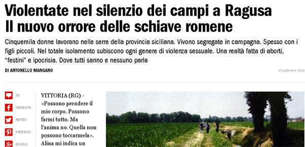 donne violentate nel silenzio dei campi