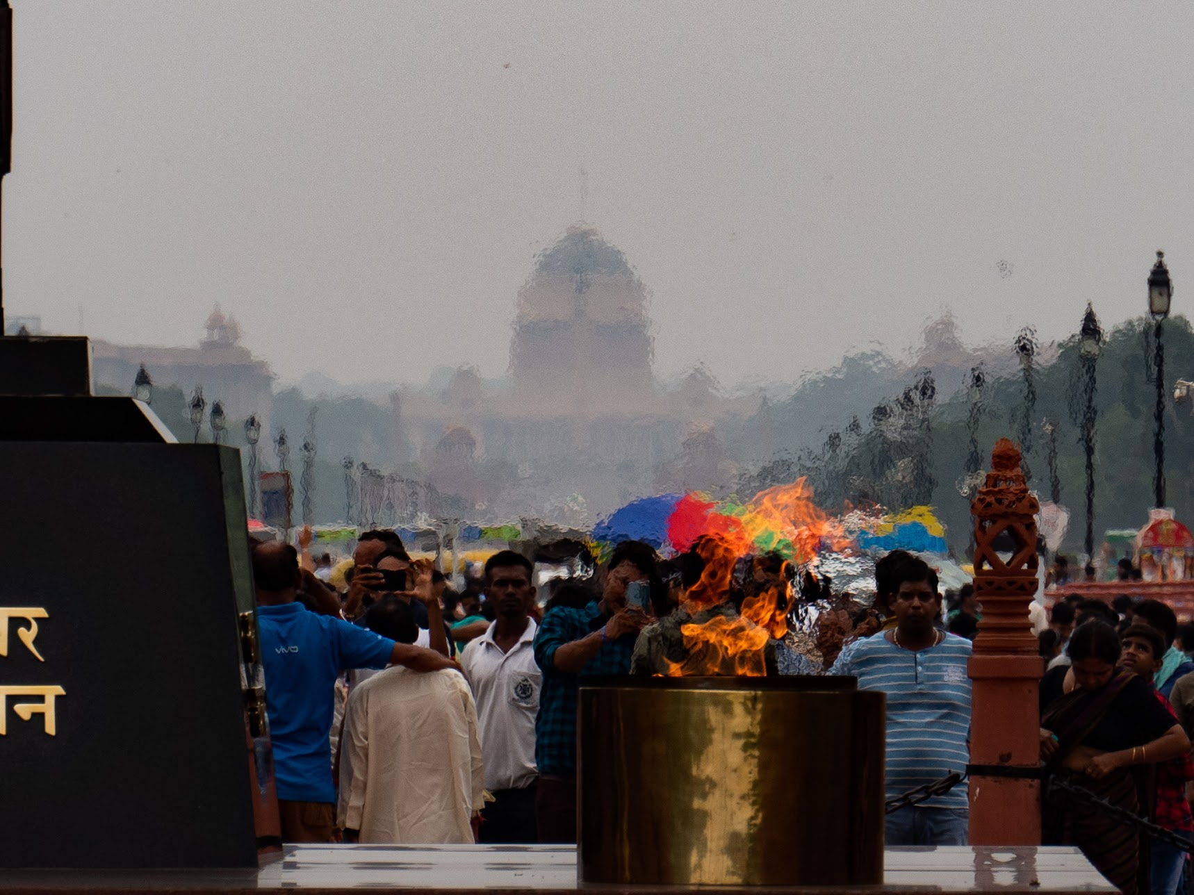 Flame of the eternal indian soldier