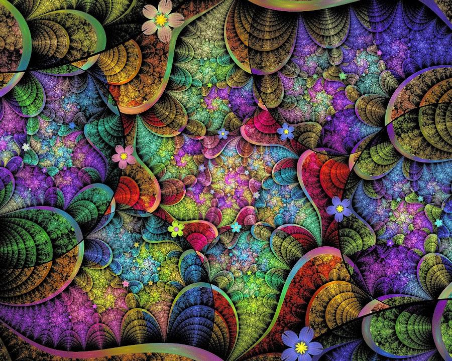 Linear ESplits Spirals  by Peggi Wolfe - Illustration Abstract & Patterns ( digital, gift, linear, color, wolfepaw, bright, pattern, spiral, abstract, décor, splti, print, unique, esplit, fractal, illustration, unusual, fun )