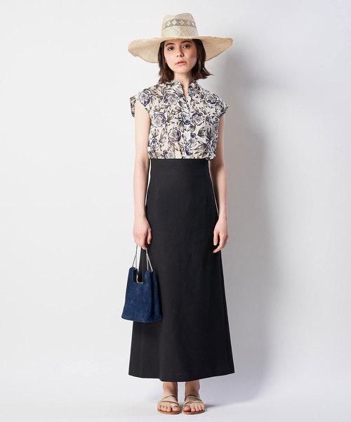 [Whim Gazette] リネンキャンバススカート