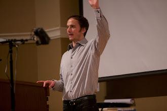 Photo: Jason introducing Jamy