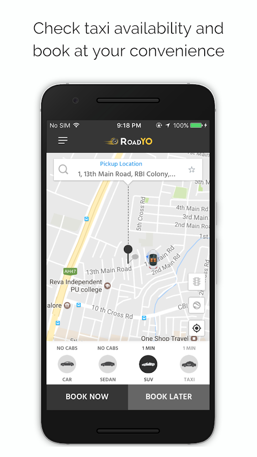 Roadyo - For On-demand Taxi Booking- screenshot
