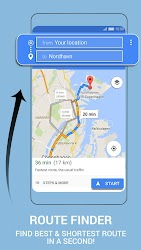 Download AR GPS Navigation 2019 GPS Maps Driving Directions ... on shortest route planner, animated route google maps, shortest route to wisconsin,