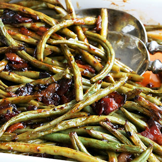 BBQ Fresh Green Beans with Candy Onions & Bacon