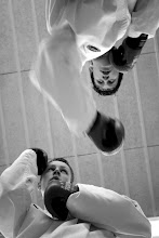 Photo: Jeremy and Shane sparring (from below)