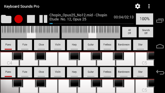 Keyboard Sounds Pro - MIDI/USB screenshot 0