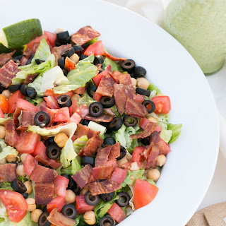 BLT Chopped Salad with Avocado Ranch Dressing Recipe
