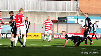 Photo: Hamilton Academical v Dunfermline Athletic Irn Bru First Division New Douglas Park 29 September 2012Ryan Thomson heads in the 3rd goal(c) Craig Brown | StockPix.eu