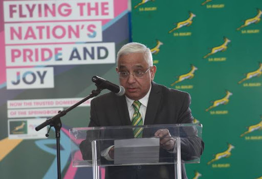 Mark Alexander (SARU deputy president) during the SA Rugby and FlySafair media briefing at O.R. Tambo International Airport on March 29, 2017 in Johannesburg, South Africa.
