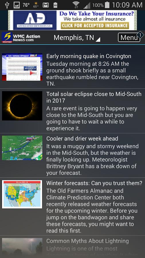 Action News 5 Memphis Weather- screenshot