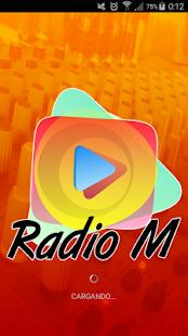 Radio M Web - náhled