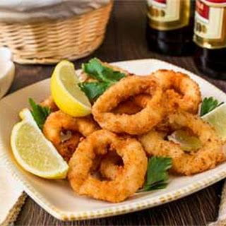 Crispy Deep Fried Calamari Rings