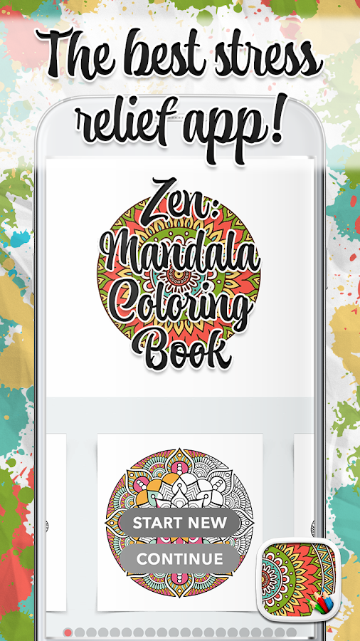 Zen Mandalas Coloring Book : Zen mandala coloring book android apps on google play
