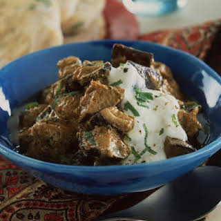 Eggplant and Mint Curry.