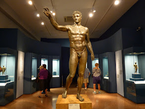 Photo: Statue at the Athens museum recovered from a famous shipwreck.