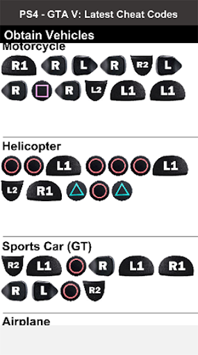 gta 5 ps4 cheat codes for vehicles