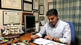 El portavoz del Grupo Municipal de Ciudadanos (Cs) en el Ayuntamiento de Almería, Miguel Cazorla.