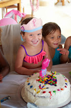 Photo: By the time the cake arrived, Phoebe wasn't worried in the least that the candle wasn't a unicorn - she was having so much fun!