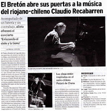 Photo: claudio recabarren trío teatro Breton