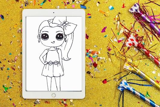 Jojo Siwa Dolls Coloring Book apk screenshot