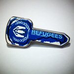 Photo: Order a Blue Key pin, and you'll also help provide 5 blankets for refugees who were forced to flee during Libya's recent violence and still do not have a permanent home.  http://www.globalgiving.org/dy/v2/gifts-for-good/detail.html?projectGift.id=60  The Blue Key is USA for UNHCR's symbol of awareness for the worldwide refugee crisis. When you wear your Blue Key, you show your support for the world's most vulnerable people.