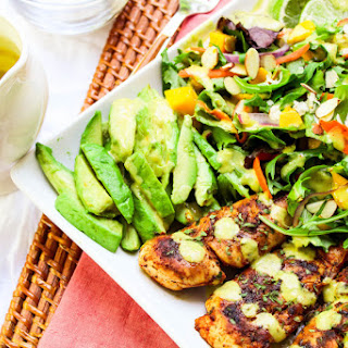 Blackened Chicken Caribbean Salad with Spicy Pineapple Dressing Recipe