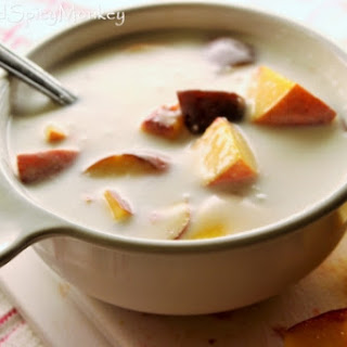 Peaches and Cream ~ the Healthy version.