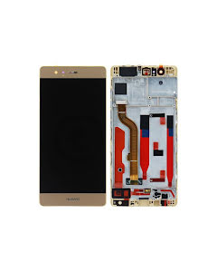 Huawei P9 LCD Display with Frame Gold