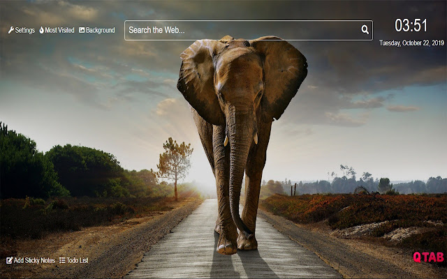 ElephantWallpapers for New Tab