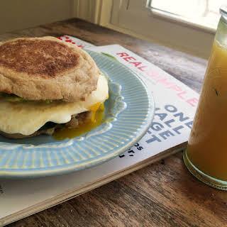 Avocado Spinach Egg English Muffin Sandwiches.